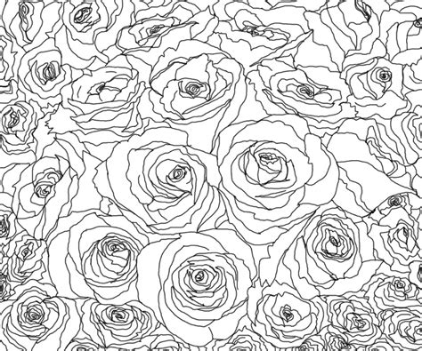roses line art by kallou123 on deviantart