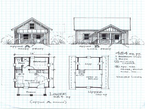 Small Cabin With Loft Floor Plans | small cabin plans with loft and porch joy studio design