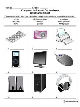 Worksheets For Computer Class by 17 Best Images About Computer Worksheets On