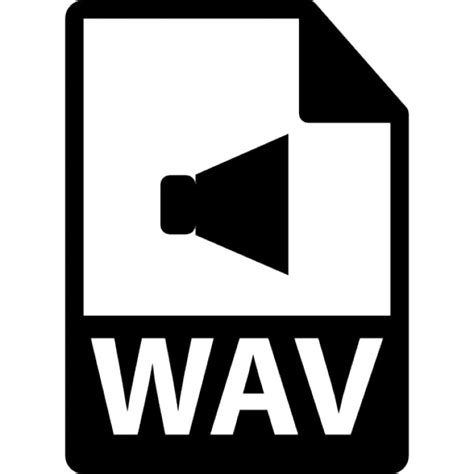 format video wav wav file format variant icons free download