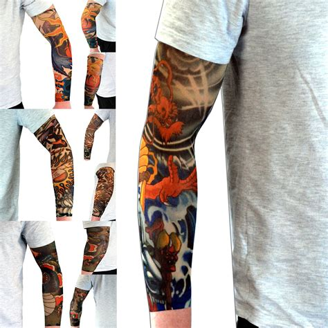 fake tattoo sleeves that look real fancy dress colourful sleeve dress up