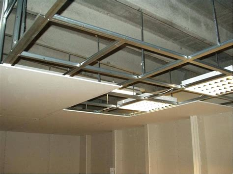 Installing Lights In A Drop Ceiling Installing Drop Ceiling Image Of Drop Ceiling Grid Installations Install Drop Ceiling Basement