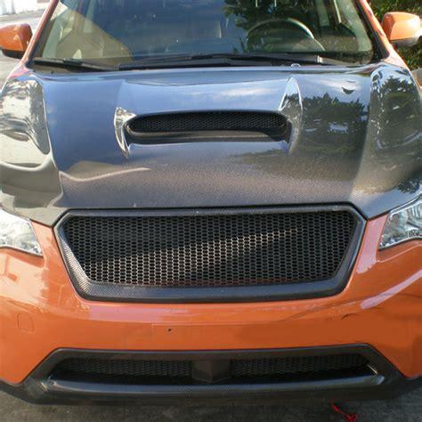 subaru crosstrek grill carbon fiber front body kit auto bumper mesh grill