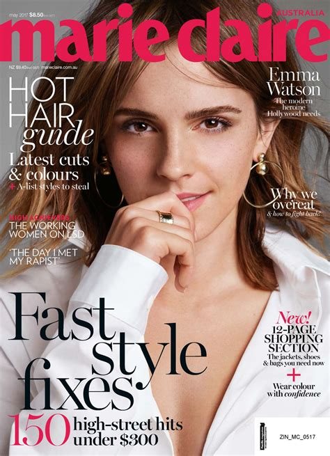 magazine may 2017 emma watson marie claire magazine australia may 2017 issue