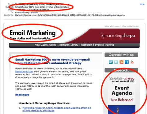 The Art Of Tightly Focused Email Newsletter Templates Mequoda Daily Email Ad Template