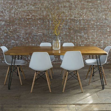 Mid Century Kitchen Table by Iroko Midcentury Modern Hairpin Leg Dining Table By Biggs