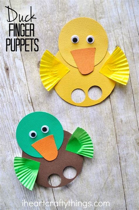 duck craft for adorable duck finger puppets duck crafts finger puppets