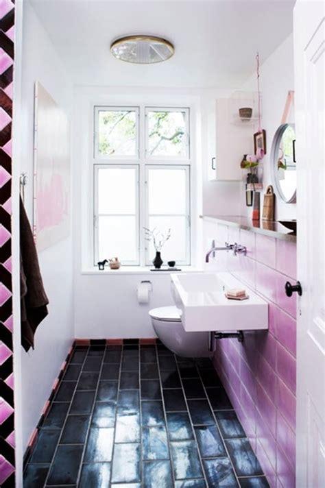 ordinary Grey And Brown Bathroom #2: pink_and_black_bathroom_tile_29.jpg