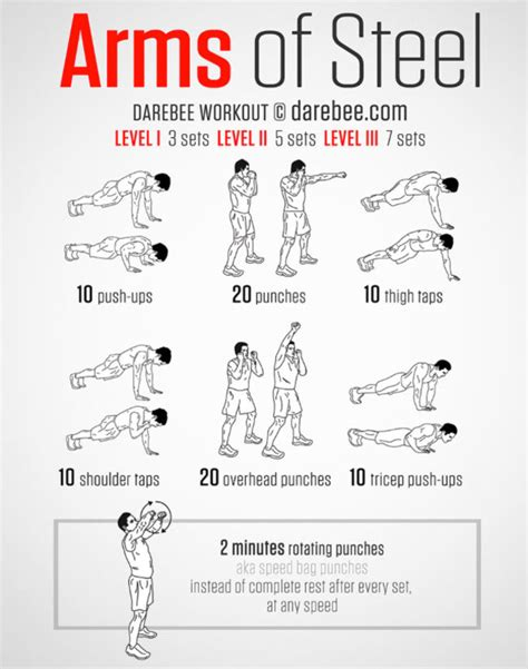 arms of steel inspired bodyweight workout