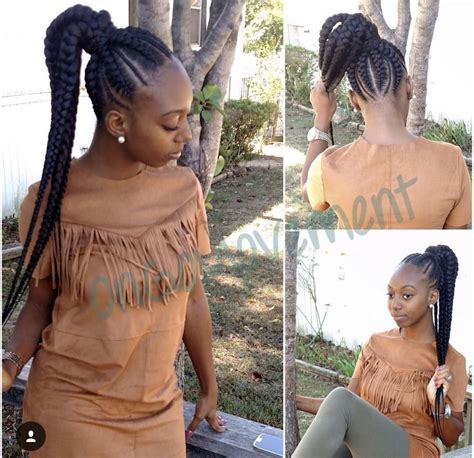 african american braid up into a ponytail feed in braids into a ponytail ongomovement pinterest