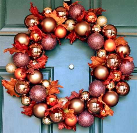 wreaths decorated with ornaments mouthtoears fall ornament wreath