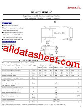 capacitor data sheet pdf db107 datasheet pdf suntan capacitors