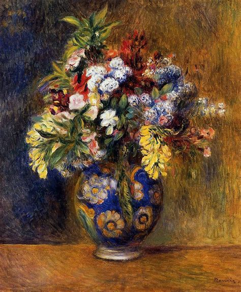 Paintings Of Flowers In A Vase by Flowers In A Vase 1878 Auguste Renoir Wikiart Org