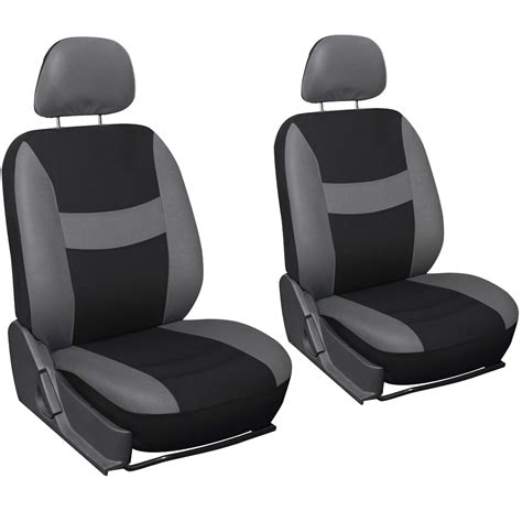 black car seat covers suv truck seat cover gray black 17pc set w steering