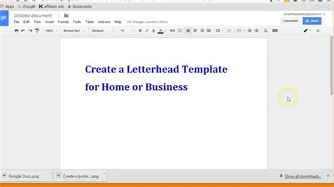 Create Letterhead Layout With Google Docs Youtube How To Create A Template In