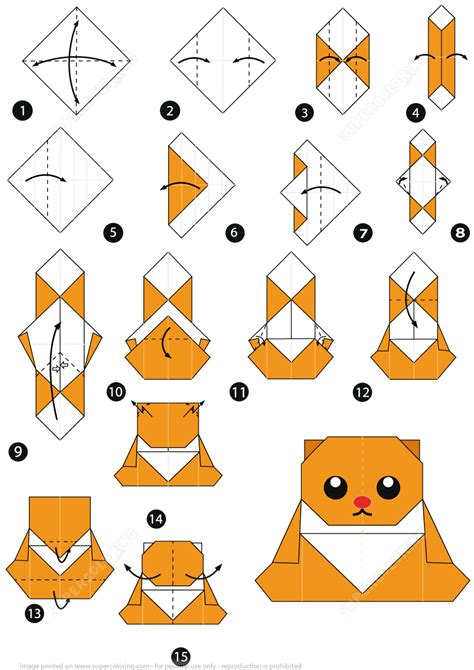 Origami Bears - how to make an origami cub free