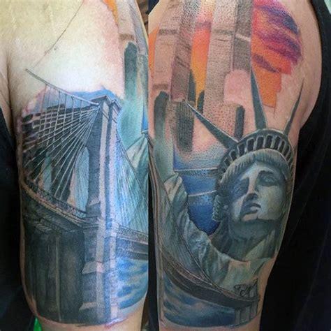 tattoo of new york city 70 statue of liberty tattoo designs for men new york city