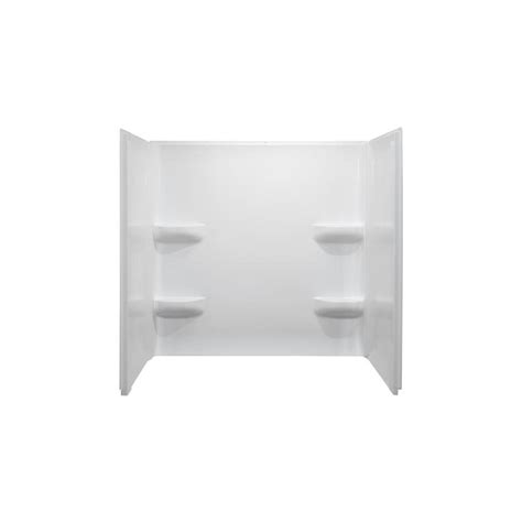bathtub 54 x 30 shop style selections white acrylic bathtub wall surround