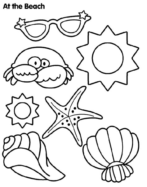 sun and sand coloring page crayola com