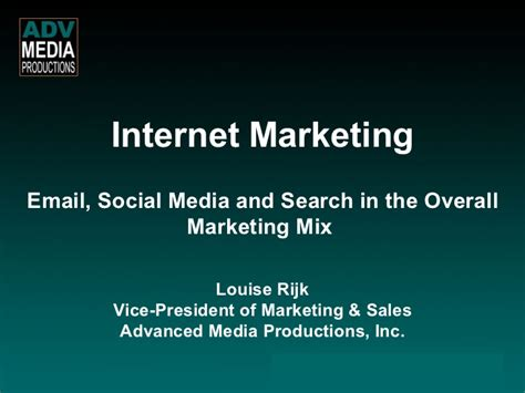 Email Social Media Search Marketing Email Social Media And Search In The Overall Mar