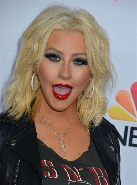 Aguilera Is by Aguilera At Nbc S The Voice Season 8 Carpet