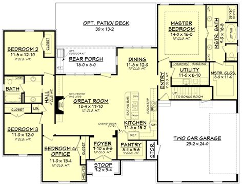 floors plans acadian house plan 142 1154 4 bedrm 2210 sq ft home plan