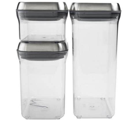 oxo steel 7 piece barware set oxo steel 3 piece pop container set qvc com