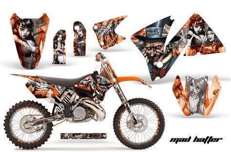 Biker Sticker Smoked By 2 Stroke 2001 2002 ktm motocross graphic decal sticker kit 4 stroke 2 stroke
