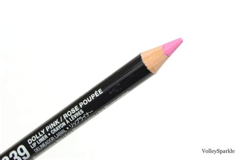 Nyx Slim Lip Liner Pencil Pink nyx dolly pink slim lip pencil review swatches volleysparkle