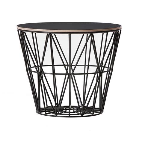 ferm living wire basket top i sort ferm living bord