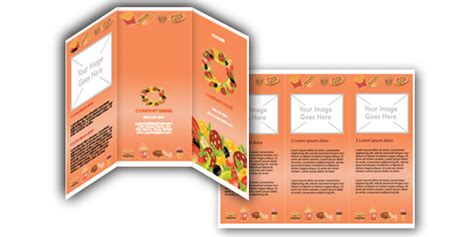 free microsoft word food brochure templates