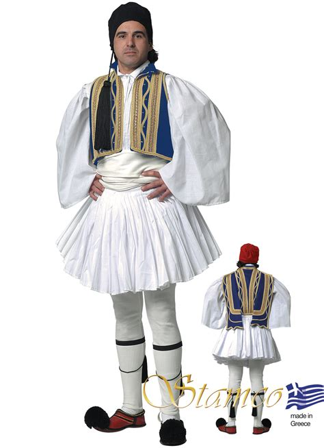 greek traditional costumes evzonas man blue www foresia com