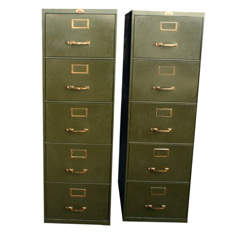 5 Drawer Metal Filing Cabinet 1 18 quot x28 quot vintage 5 drawer file metal cabinet ebay