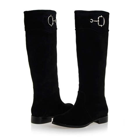black suede flat slouch boots images