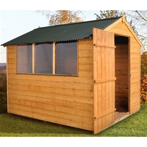8 x 6 shiplap tongue and groove apex shed with onduline