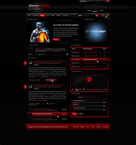 best gaming templates devour gaming template by michaeltinnin on deviantart