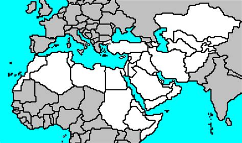 Africa And Middle East Outline Map by Blank Map Of Europe Africa And West Asia