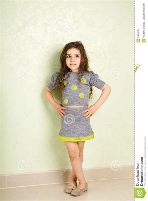 tiny petite fashion small girl stock images image 5546074