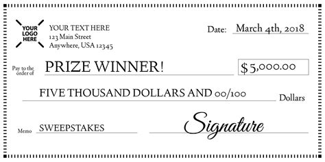 Sweepstakes Check - signage 101 giant check uses and templates signs com blog