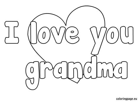 i love you great grandma coloring pages i love you grandma coloring page pre k pinterest