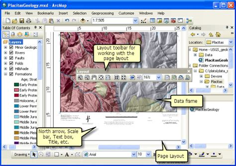 layout toolbar arcgis 10 displaying maps in data view and layout view help arcgis