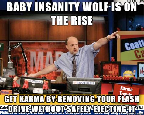 Mad Wolf Meme - mad karma with those baby insanity wolf memes so insane