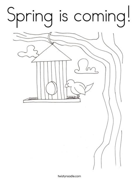 spring house coloring pages bird houses coloring pages