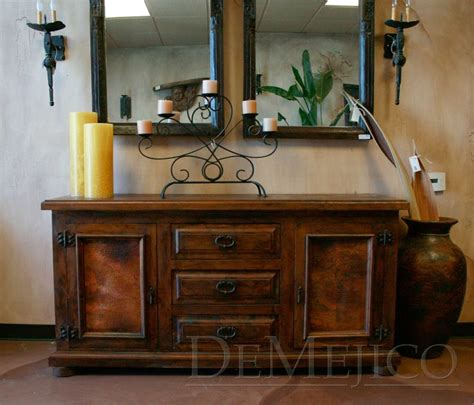 the buffet mesquite con cobre is a spanish sideboard made