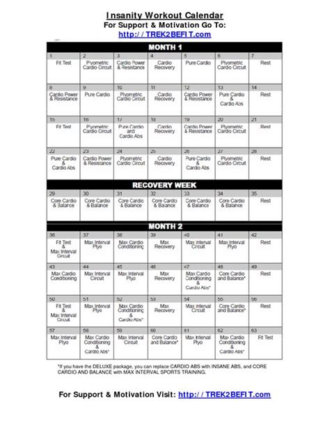 When Calendar Started Pinner Wrote Insanity Workout Calendar Oh Yeah