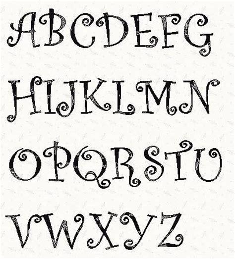 alphabet curlz font 3 inch stencil | wood burning