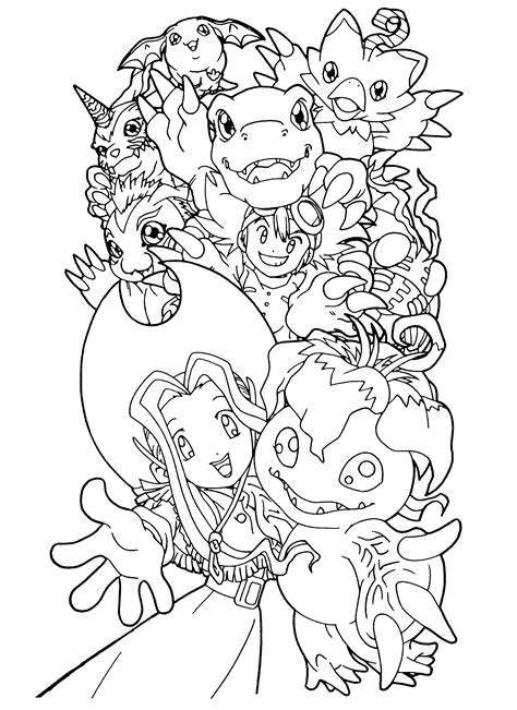 Coloring Page Digimon Coloring Pages 89 Digimon Coloring Pages