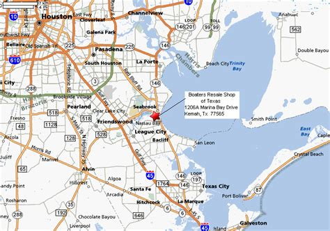 kemah texas map boaters resale shop of texas