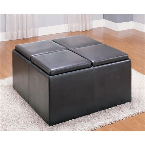 reversible ottoman coffee table reversible ottoman coaster faux leather storage ottoman
