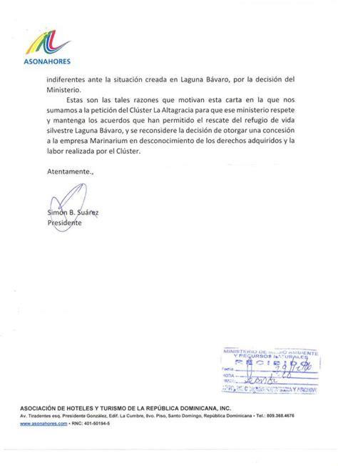 carta de rechazo de compra carta de asonahores en rechazo a manejo de marinarium de la laguna b 225 varo noticias de turismo